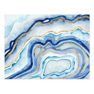 Carte Postale Agate II de cobalt