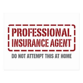 Carte Postale Agent d'assurance professionnel