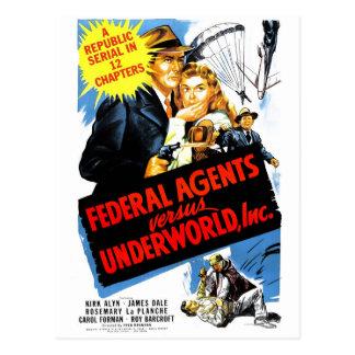 Carte Postale Agents fédéraux contre Underworld, Inc.