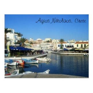 Carte Postale Agios Nikolaos, Crète, Grèce