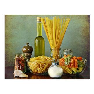 Carte Postale aglio, peperoncino de l'olio e (ail, pétrole et