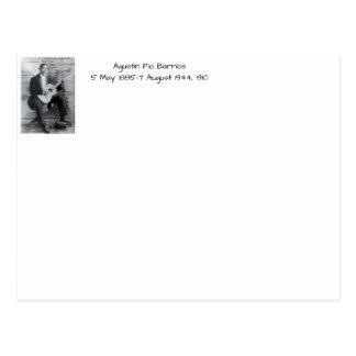 Carte Postale Agustín Pio Barrios, 1910