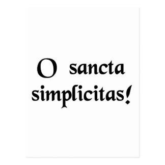 Carte Postale Ah, simplicité sainte !