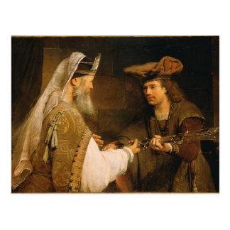 Carte Postale Ahimelech donnant l'épée de Goliath à David