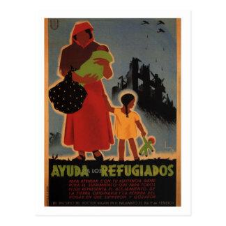Carte Postale Aide à 1938) affiches de _Propaganda de réfugiés (