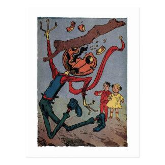 Carte Postale Aïe ! Vintage peu de magicien d'Oz