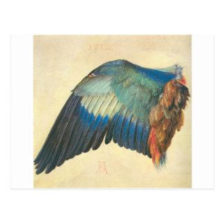 Carte Postale Aile d'un rouleau bleu par Albrecht Durer