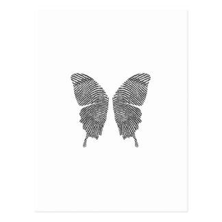 Carte Postale Ailes de papillon d'empreinte digitale