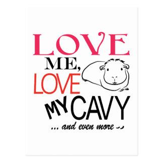 Carte Postale Aimez-moi, aimez mon cavy