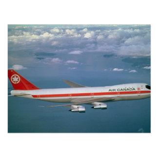 Carte Postale Air Canada 747, en vol