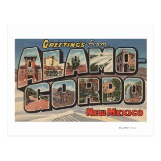 Carte Postale Alamongordo, Nouveau Mexique - grandes scènes de