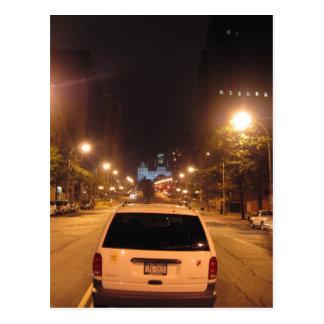 Carte Postale Albany la nuit : colline de rue d'état