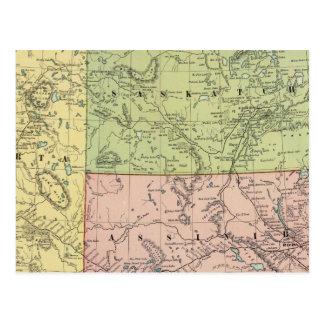 Carte Postale Alberta, Saskatchewan