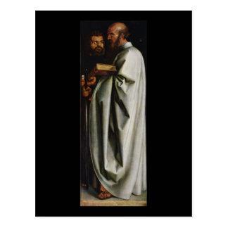 Carte Postale Albrecht Durer les quatre apôtres redressent le