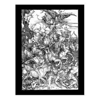 Carte Postale Albrecht Durer les quatre cavaliers de