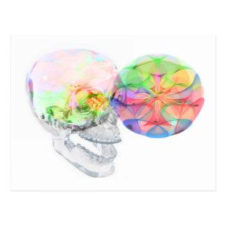Carte Postale Alchimie pinéale de DMT de crâne en cristal