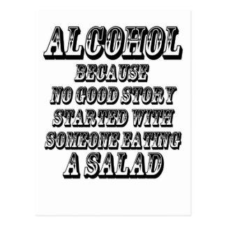 Carte Postale ALCOOL - puisque