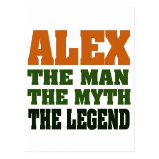 Carte Postale Alex - l'homme, le mythe, la légende !