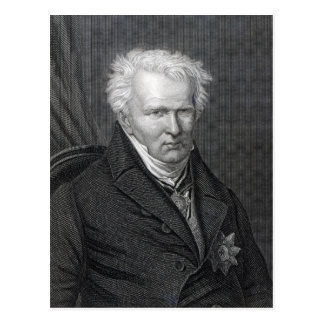 Carte Postale Alexander von Humboldt, gravé par C. Cook