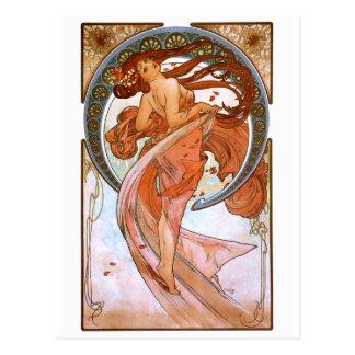 Carte Postale Alfons Mucha : Danse