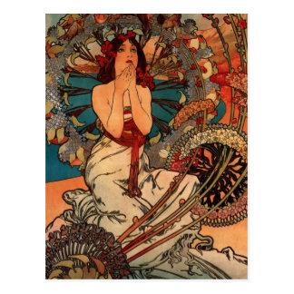 Carte Postale Alfons Mucha Monaco Monte Carlo