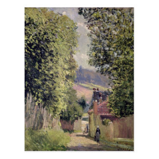 Carte Postale Alfred Sisley | une route dans Louveciennes