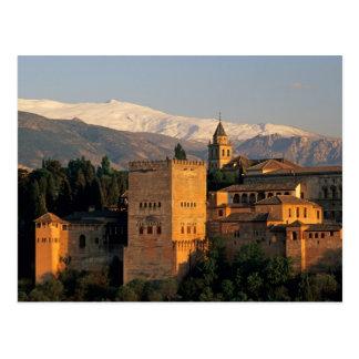 Carte Postale Alhambra ; Grenade ; Andaslusia, Espagne, sierra
