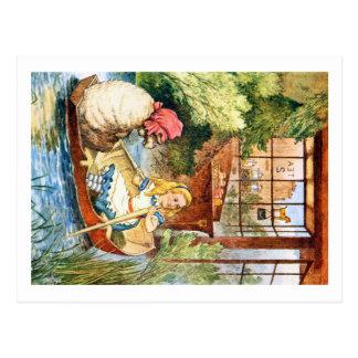 Carte Postale Alice a observé en tant que dame âgée transformée