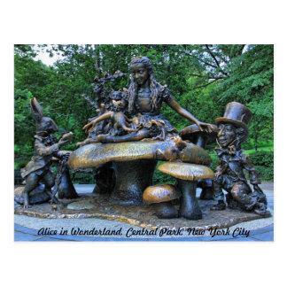 Carte Postale Alice au pays des merveilles - Central Park NYC #2