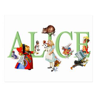 Carte Postale Alice au pays des merveilles et amis