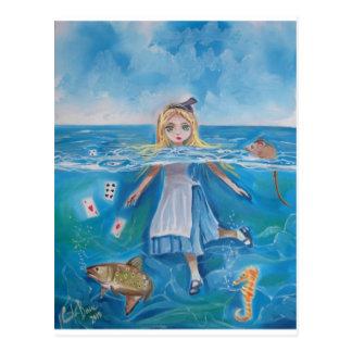 Carte Postale Alice au pays des merveilles la piscine des larmes