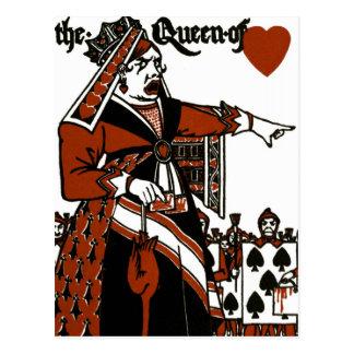 Carte Postale Alice au pays des merveilles ; Un jeu. La reine