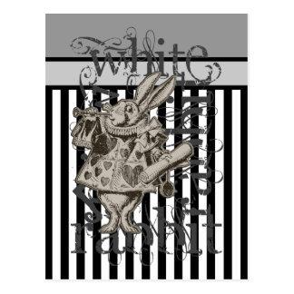 Carte Postale Alice dans la grunge blanche de lapin du pays des