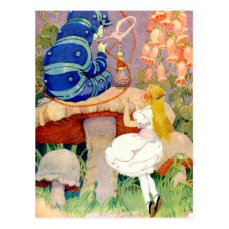 Carte Postale Alice demande l'avis de Caterpillar