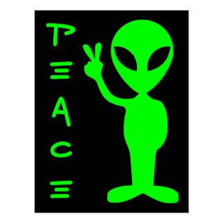 Carte Postale Alien de paix
