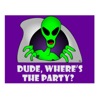 CARTE POSTALE ALIEN PARTY-5