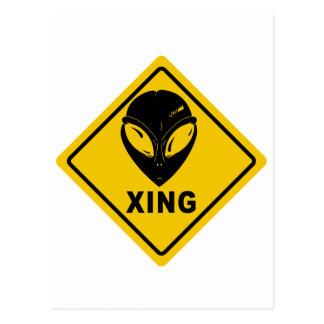 Carte Postale Alien X-ING