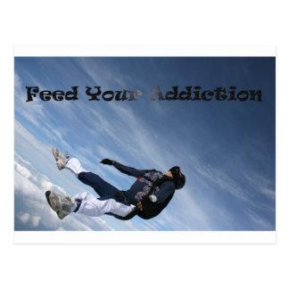 Carte Postale Alimentez votre dépendance