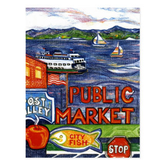 Carte Postale Allée de courrier avec le ferry