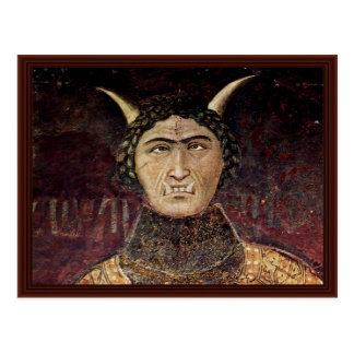 Carte Postale Allégorie de désordre par Lorenzetti Ambrogio