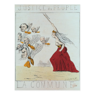 Carte Postale Allégorie de la commune, 1871