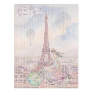 Carte Postale Aller à vélo par Paris