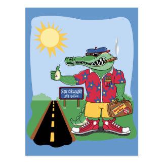 Carte Postale Alligator de mardi gras