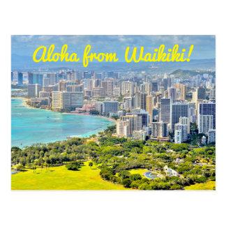 Carte Postale Aloha de Waikiki