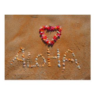 Carte Postale Aloha plage sablonneuse