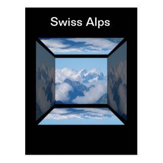 Carte Postale Alpes suisses avec des nuages par Celeste Sheffey