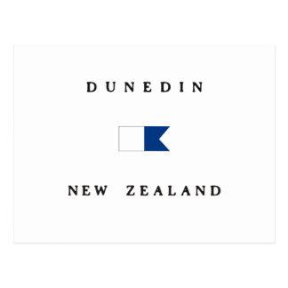 Carte Postale Alpha drapeau de piqué de Dunedin Nouvelle Zélande
