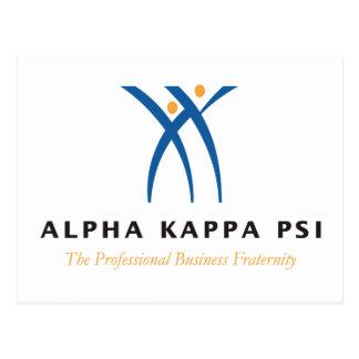 Carte Postale Alpha nom et logo de livre par pouce carré de