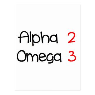 Carte Postale alpha omega