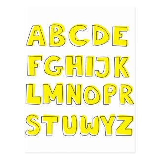Carte Postale Alphabet